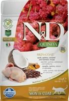 Корм ND Cat GF Quinoa Skin&Coat Quail, 300 g/для взрослых кошек с перепелкой, уход за кожей и шерстью, 300 г