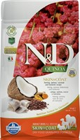 Корм ND DOG GF Quinoa Skin&Coat Herring, 800 g/для взрослых собак с сельдью, уход за кожей и шерстью, 800 г