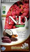 Корм ND DOG GF Quinoa Skin&Coat Venison, 2,5 kg/для взрослых собак с олениной, уход за кожей и шерстью, 2,5 кг