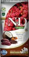 Корм ND DOG GF Quinoa Skin&Coat Venison, 7 kg/для взрослых собак с олениной, уход за кожей и шерстью, 7 кг