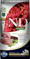 Корм ND DOG GF Quinoa Weight Management Lamb, 7 kg/для взрослых собак с ягненком, контроль веса, 7 кг