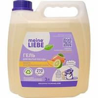 """MEINE LIEBE Гель для мытья посуды """"Манго и освежающий лайм"""",концентрат, 3 л канистра"""